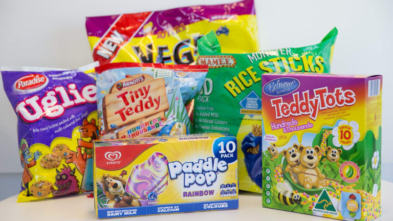 Paddle Pop and Smith's Chips are among many snack foods that carry the school canteen approved logo.