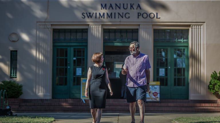 In January, Kingston and Barton Residents group president Rebecca Scouller and member Nick Swain have called for heritage protections to be improved at Manuka Pool and other listed, or nominated, sites across Canberra's inner south.