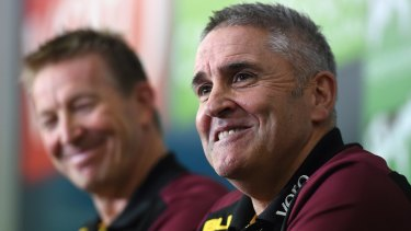 Brisbane Lions coach Chris Fagan spent nine years at Hawthorn.