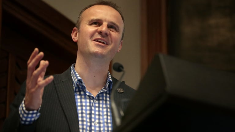 """Chief Minister Andrew Barr wants a """"compact and competitive"""" city."""