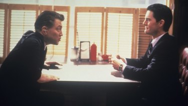 <i>Twin Peaks</i> co-creator David Lynch, left, as FBI Bureau Chief Gordon Cole and Kyle  MacLachlan as Agent Dale Cooper.
