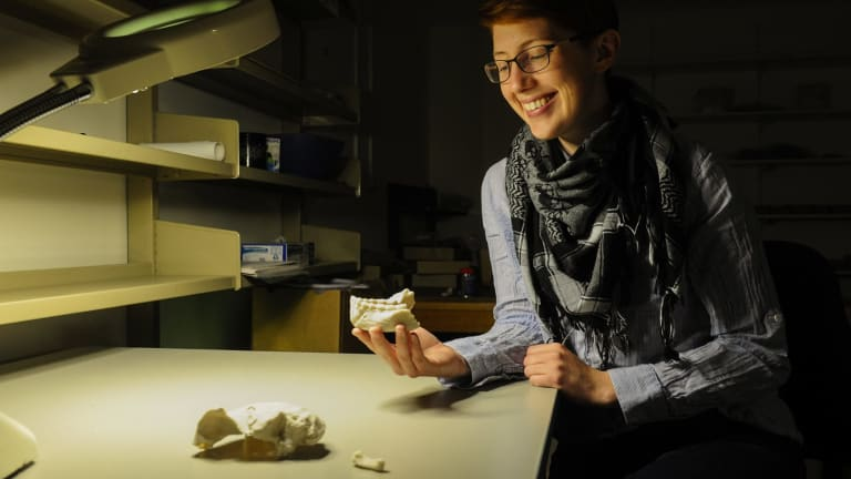 Elen Feuerriegel was part of a team who discovered a new species of extinct human.