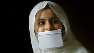 Sadika,17, a Jain Sadhavi or nun in her ashram in New Delhi. Jainism originated in India about 500BC. The world's almost 5 million Jains are almost entirely located in India.