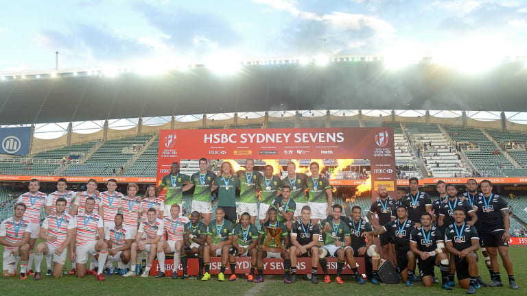 Big success: South Africa were crowned champions after more than 75,000 came through the gates across three days.