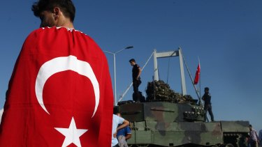 The ructions in Turkey affected the final minutes of the week's trading in the US on Saturday.