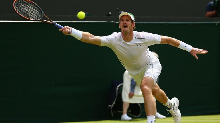 On fire: Andy Murray.