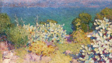 John Russell's In the morning, Alpes Maritimes from Antibes, 1890-91.