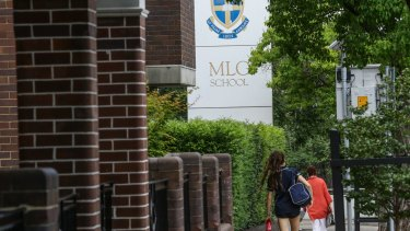 Going through a tumultuous period:  MLC school at Burwood.