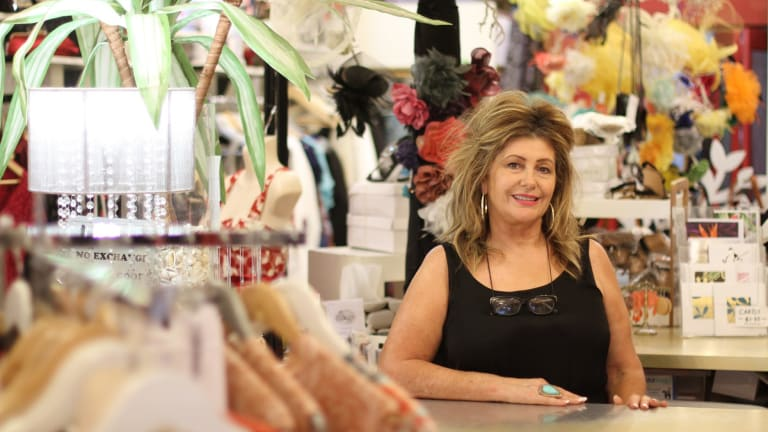 Heleny McClennan, owner of Hunter street boutique Ruby Rhubarb, wants light rail in Newcastle.