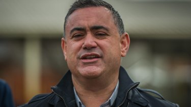 Nationals leader John Barilaro was happy his party fought off challenges by Labor and the Shooters, Fishers and Farmers party.