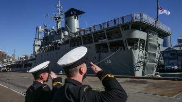 HMAS Tobruk was decommissioned in 2015.