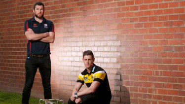 Port Melbourne and Richmond decider: Captains Toby Pinwill and Sam Darley.