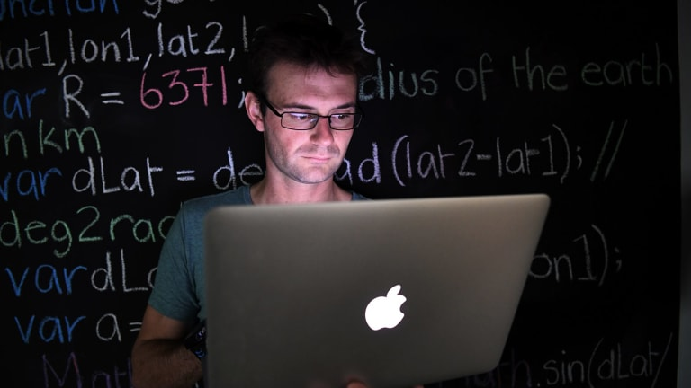 Chris Monk runs a company in Chippendale that teaches coding.