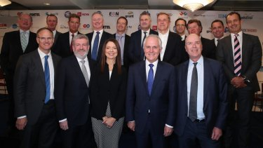 Prime Minister Malcolm Turnbull and Mitch Fifield joined a summit of media executives in June, all urging the Senate to pass industry reforms.