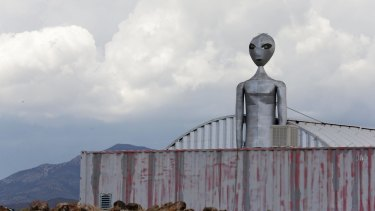 The Alien Research Center, a retail souvenir shop located near the military testing base known as Area 51 in Rachel, Nevada.