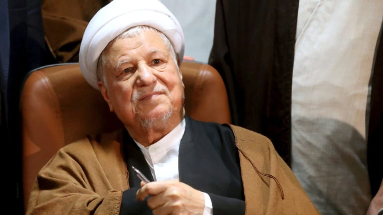 Former Iranian president Ali Akbar Hashemi Rafsanjani, pictured in 2015, died of a suspected heart attack.