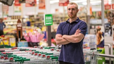 Michael Johnstone has stacked shelves and helped customers at Woolworths in Brunswick, has sounded out colleagues about joining the new union.
