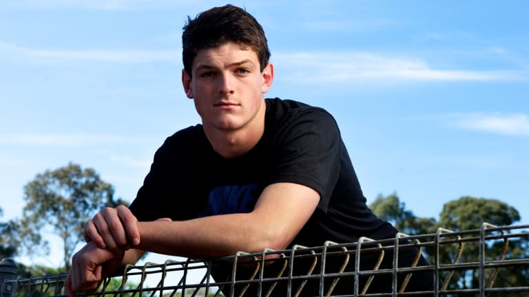 Strong pedigree: Angus Brayshaw ponders his future.