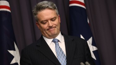 """""""We don't believe it is sensible to pursue so called stimulus spending,"""" says Finance Minister Mathias Cormann."""