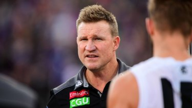All of a sudden, in this ridiculously even AFL season, Nathan Buckley's coaching future at Collingwood doesn't look so black and white.