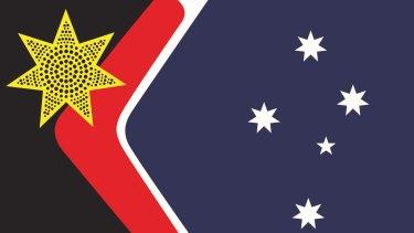 John Blaxland's proposed design for a new Australia flag.