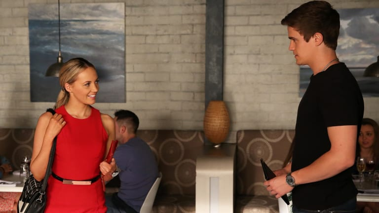 Nic Westaway, here with fellow cast member, Samantha Jade, takes centre stage in Home and Away: All or Nothing.