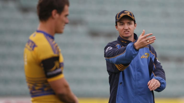 Way back when: Jason Taylor directs traffic at a Parramatta Eels training session in May 2006.
