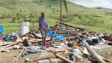 Children are traumatised by images of natural disasters, such as the effects of Cyclone Winston in Fiji.