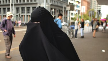 Fatima Elomar leaves Downing Centre courts earlier this year.