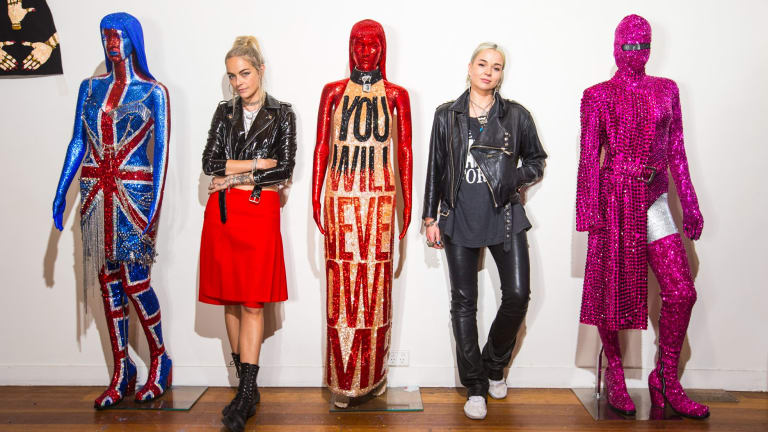 Discount Universe designers Cami James (left) and Nadia Napreychikov are exhibiting their archive from the past six years.