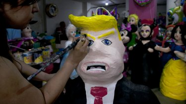 Donald Trump's inflammatory rhetoric about Mexicans has led to the production of pinatas depicting him.