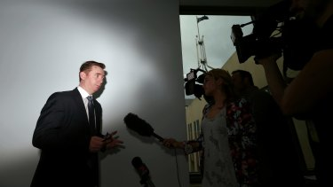 Australian Medical Association (AMA) President Brian Owler addresses the media in the Parliament House press gallery.