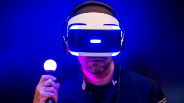 Sony's PlayStation VR headset.