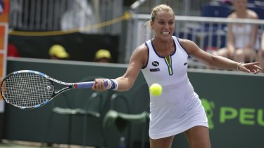 Delivering her assessment: Dominika Cibulkova.