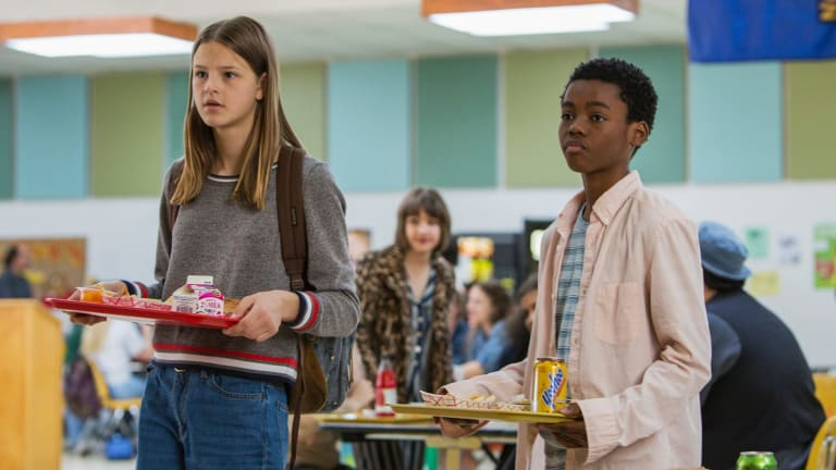 Peyton Kennedy and Jahi Di'Allo Winston in the teen drama Everything Sucks!