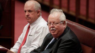Nationals Senators John Williams and Barry O'Sullivan both wanted a royal commission.
