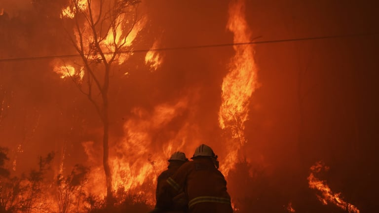 A bushfire rages in Londonderry in November as firefighters battle to contain the blaze.