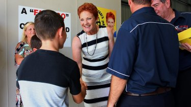 Pauline Hanson said she's still in control of her party, which has seen three Queensland candidates quit or dumped since December.
