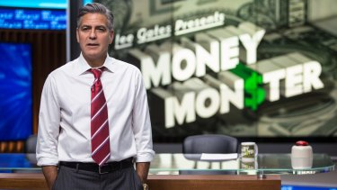 George Clooney stars as Lee Gates, a rich and famous TV show host, in <i>Money Monster</i>.