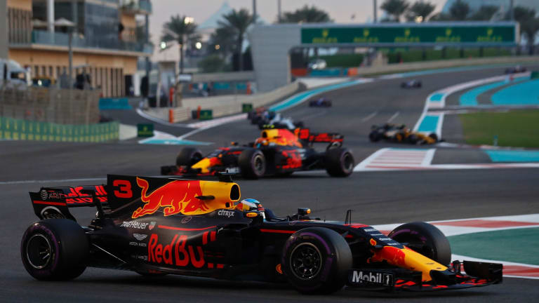 Red Bull's Daniel Ricciardo prior to pulling out of the Abu Dhabi Grand Prix on Sunday.