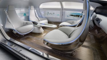 Driverless cars, such as this Mercedes F015, could soon dominate modern cities.