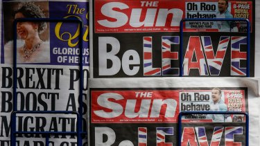 News Corp's British assets include several newspapers.