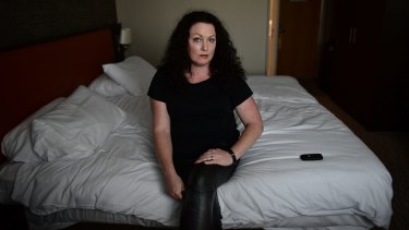 Sex worker and rights activist Laura Lee  in Belfast, Northern Ireland, last year.