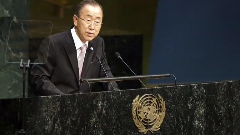 United Nations Secretary-General Ban Ki-moon.