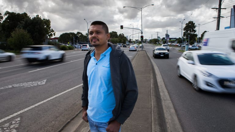 Gaurav Surati, pictured in Epping, says infrastructure in Melbourne's north is in a bad way.
