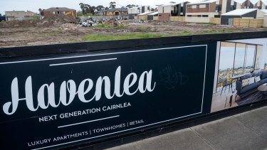 The developers have plans to build almost 200 apartments on the site where the contaminated building waste was dumped.
