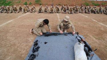 Kurdish fighters in Syria.