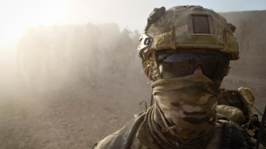 An Australian special forces soldier in Afghanistan.