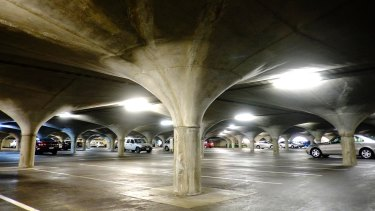 The underground car park at Melbourne University will be the site of the Myer launch and the official unveiling of a collaboration between the retailer and Tesla.