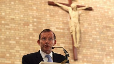 Staunch Catholic and No voter Tony Abbott.